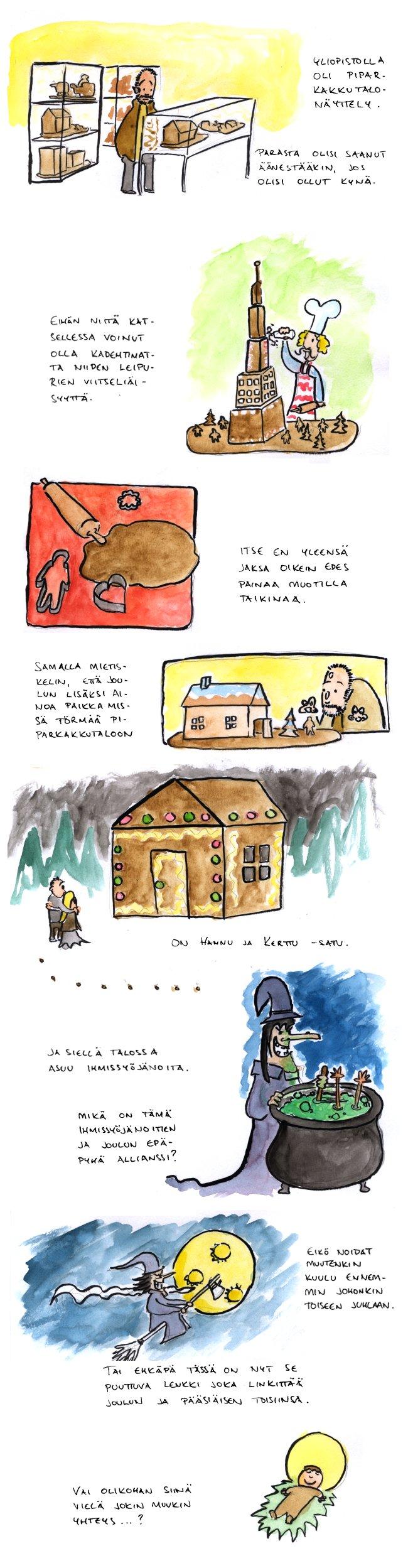 Joulukalenteri – Piparkakkutalo