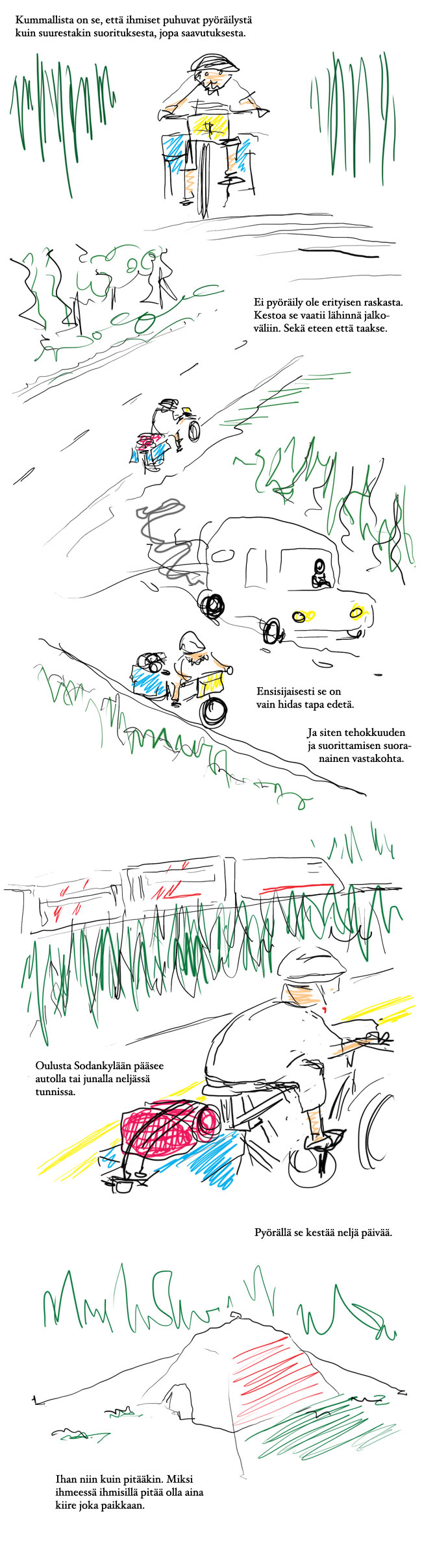 Pyörällä Sodankylään