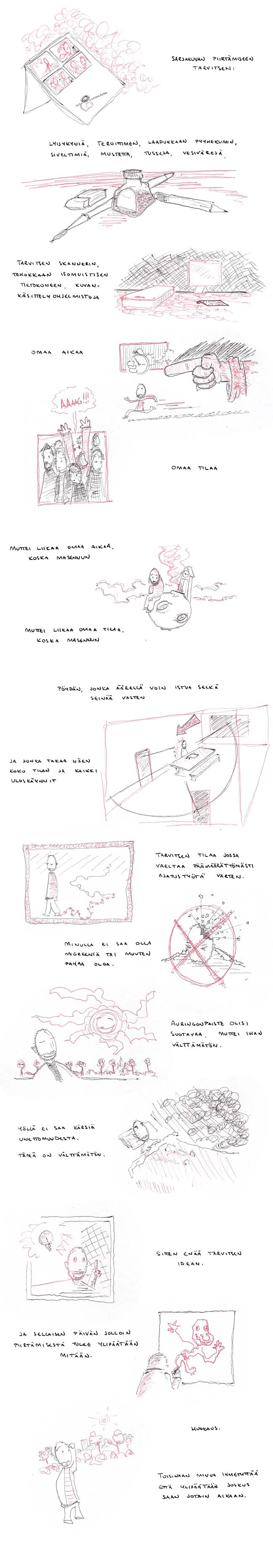 Piirtämiseen tarvitsen