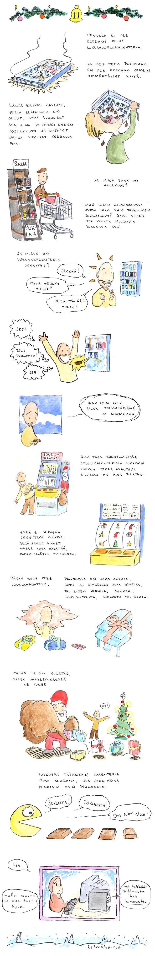 Joulu: Suklaakalenteri