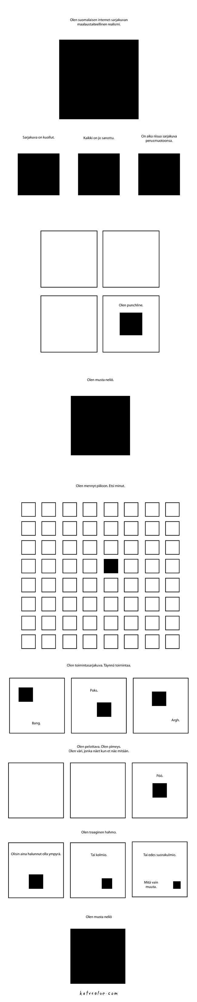 Oikea vastaus on: Neljännen vaakarivin viides neliö.