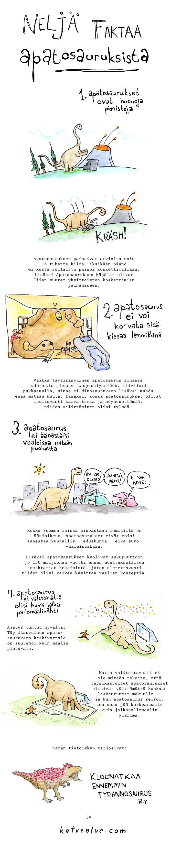 Neljä faktaa apatosauruksista