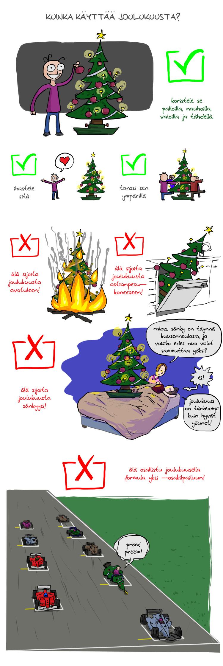Kuinka käyttää joulukuusta?